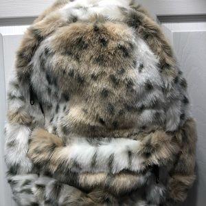 PB Teen Faux Fur Backpack